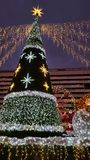 Mercado de la Navidad en Dresden Fotos de archivo libres de regalías