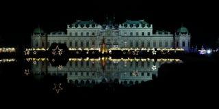 Mercado de la Navidad en el belvedere, Viena, Austria Fotografía de archivo