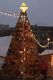 Mercado de la Navidad en el cuadrado de Moravian en Brno Foto de archivo libre de regalías
