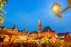 Mercado de la Navidad en Francfort Fotos de archivo libres de regalías