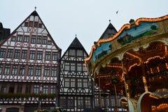 Mercado de la Navidad en Francfort Alemania imágenes de archivo libres de regalías