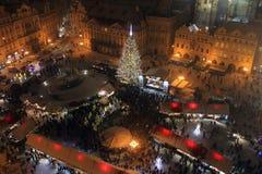 Mercado de la Navidad en Praga Imagenes de archivo