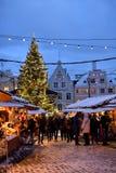 Mercado de la Navidad en Tallinn Imagenes de archivo