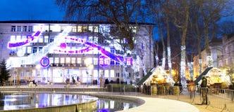 Mercado de la Navidad en Varna Foto de archivo libre de regalías