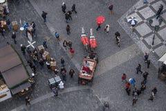 Mercado de la Navidad en la vieja plaza foto de archivo libre de regalías