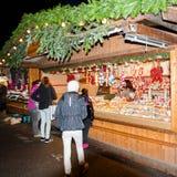 Mercado de la Navidad en Viena, Austria Foto de archivo libre de regalías