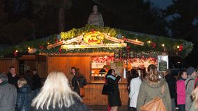Mercado de la Navidad en Viena, Austria Fotos de archivo libres de regalías