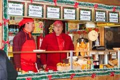 Mercado de la Navidad en Viena, Austria Imágenes de archivo libres de regalías