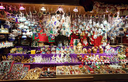 Mercado de la Navidad en Viena, Austria Imagen de archivo libre de regalías