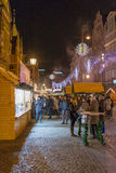 Mercado de la Navidad en Wroclaw, Polonia Foto de archivo