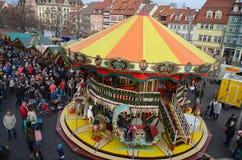 Mercado de la Navidad de Erfurt - Alemania fotos de archivo libres de regalías