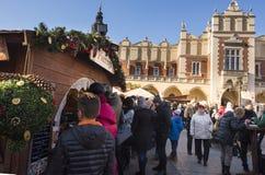 Mercado 2017 de la Navidad de Kraków foto de archivo