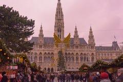 mercado de la Navidad de Viena Austria 2015 Foto de archivo libre de regalías