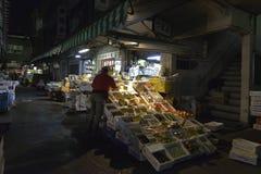 Mercado de la noche Foto de archivo libre de regalías