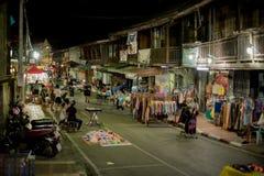 Mercado de la noche Fotos de archivo