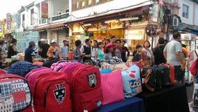 Mercado de la noche de la calle de Jonker Foto de archivo libre de regalías