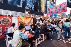 Mercado de la noche de la calle de Raohe, Taipei, Taiwán Imagen de archivo libre de regalías