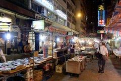 Mercado de la noche de la calle del templo en Hong Kong Fotografía de archivo