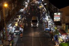 Mercado de la noche en Bangkok fotos de archivo libres de regalías
