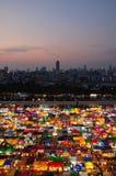 Mercado de la noche en Bangkok Tailandia Fotos de archivo