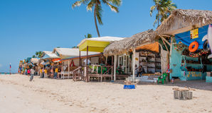 Mercado de la playa en Punta Cana Imagen de archivo
