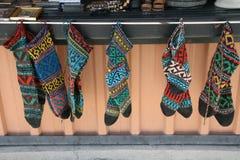 Mercado de la ropa georgiana Imágenes de archivo libres de regalías