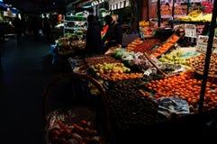 Mercado de la tarde de la ciudad Fotos de archivo libres de regalías