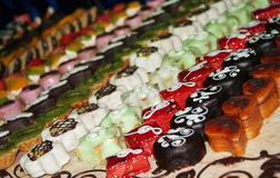 Mercado de la torta Foto de archivo libre de regalías