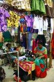 Mercado de las mujeres en el chalet portuario, Vanuatu Foto de archivo
