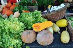 Mercado de las verduras del invierno Foto de archivo libre de regalías