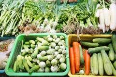 Mercado de las verduras frescas Imagenes de archivo