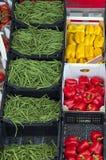 Mercado de las verduras frescas Fotos de archivo