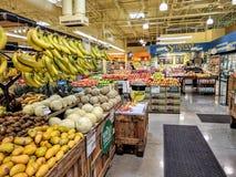 Mercado de los alimentos integrales Fotografía de archivo