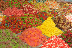 Mercado de los caramelos Foto de archivo libre de regalías
