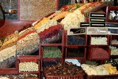 Mercado de los frutos secos Imagen de archivo libre de regalías