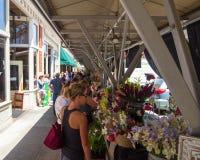 Mercado de los granjeros de la ciudad de Roanoke Foto de archivo libre de regalías