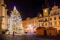 Mercado de los hristmas del ¡de Ð en Kladno, República Checa Fotografía de archivo