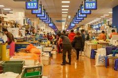 Mercado de los mariscos de Noryangjin Fotos de archivo
