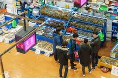 Mercado de los mariscos de Noryangjin Foto de archivo