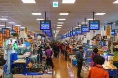 Mercado de los mariscos de Noryangjin Imagenes de archivo