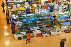 Mercado de los mariscos de Noryangjin Foto de archivo libre de regalías
