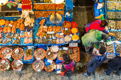 Mercado de los mariscos en Seul Imagenes de archivo