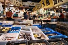 Mercado de los mariscos, Tokio Imágenes de archivo libres de regalías