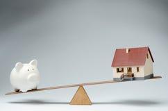 Mercado de los préstamos hipotecario Imágenes de archivo libres de regalías