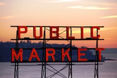 Mercado de lugar de Pike Imágenes de archivo libres de regalías