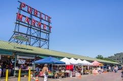 Mercado de lugar de Pike em Seattle Foto de Stock