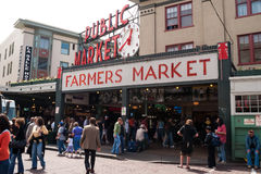 Mercado de lugar de Pike em Seattle, WA Fotografia de Stock