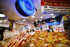 Mercado de lugar de Pike en Seattle, Washington Imagen de archivo