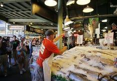 Mercado de lugar de Pike--Pez volador Imagen de archivo libre de regalías