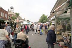 Mercado de lunes, Christchurch, Dorset Imagen de archivo libre de regalías